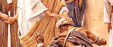 Jézus kinyujtotta a kezét és megérintette a férfit