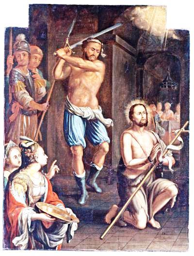 Augusztus 29 - Keresztelő Szent János vértanúsága