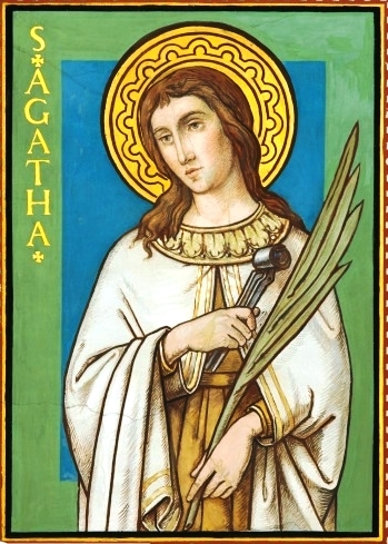Február 5 - Szent Ágota szűz és vértanú