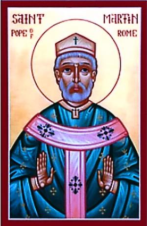 Április 13- Szent I. Márton pápa