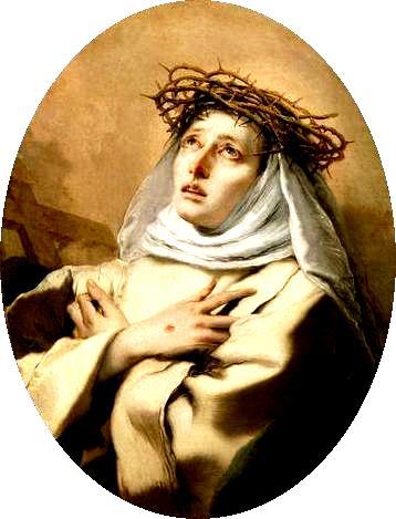 Április 29- Sienai Szent Katalin egyháztanító, Európa védőszentje