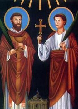 Június 2- Szent Marcellinusz és Péter vértanúk