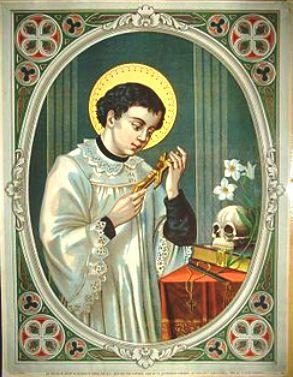 Június 21- Gonzága Szent Alajos