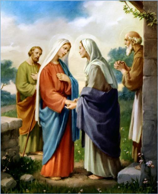 Július 2- Sarlós Boldogasszony (Szűz Mária látogatása Erzsébetnél)