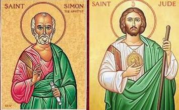 Október 28- Szent Simon és Szent Júdás Tádé apostolok