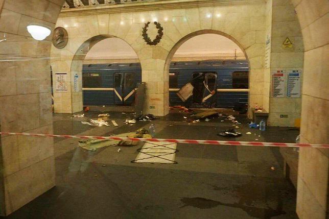 Robbantás a szentpétervári metrón