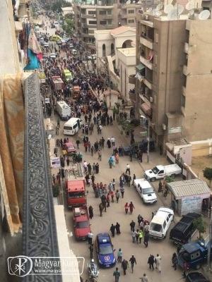 Robbantás történt két egyiptomi kopt templomnál a virágvasárnapi liturgia alatt