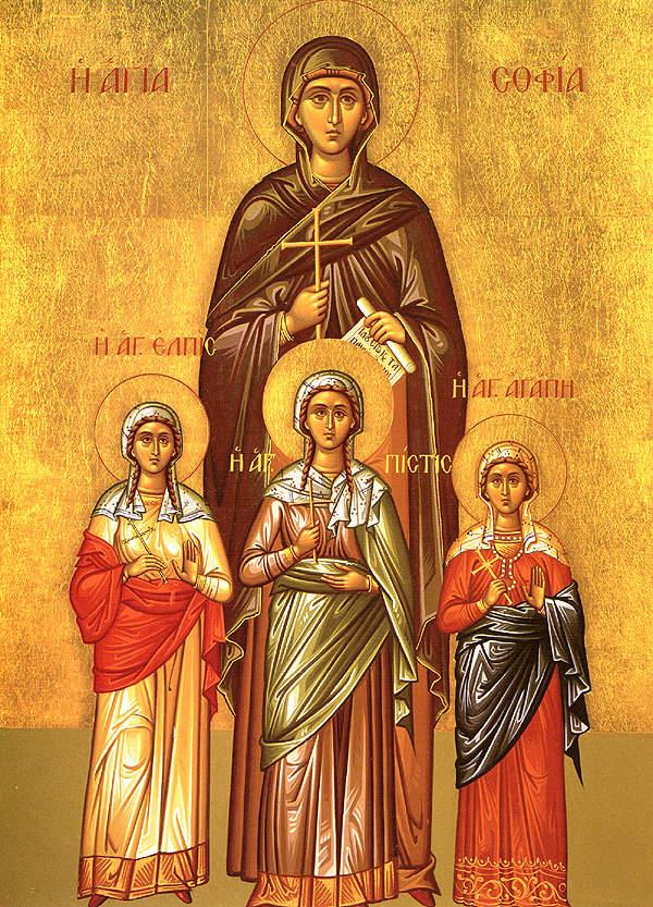 Szent Zsófia és három leánya