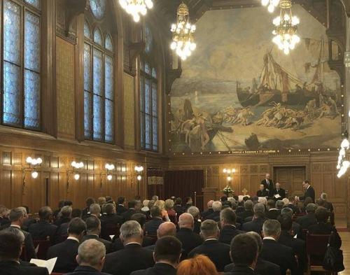 Márfi Gyula érsek elmélkedést tartott a Parlament Vadásztermében