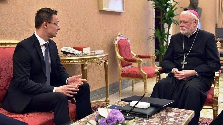 Szijjártó Péter külügyminiszter vatikáni látogatása