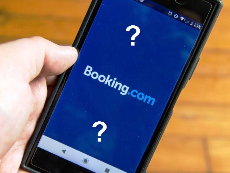 Durva átverés - booking.com módra